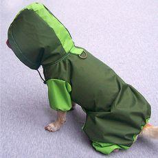 Dežni plašč za pse - olivno-zelen, S