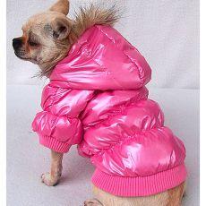 Puhovka za pse – roza, XL