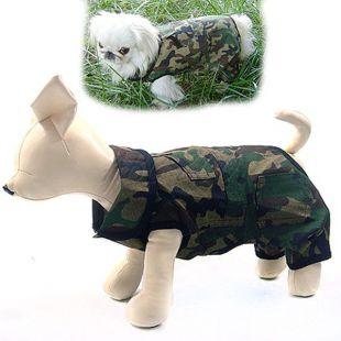 Enodelna pasja obleka v kamuflažni barvi – M