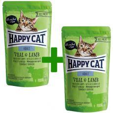 Vrečka Happy Cat ALL MEAT Adult Veal & Lamb 85 g 1+1 BREZPLAČNO