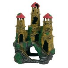 Okras za akvarije – ruševina gradu na hribu