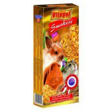 Vitapol Smakers - priboljški za glodavce z okusom medu, 90 g