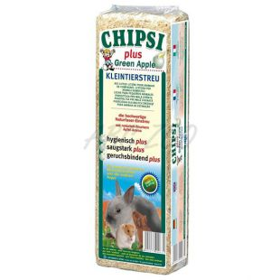 CHIPSI PLUS GREEN APPLE stelja z vonjem jabolka - 15 L