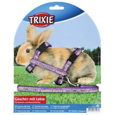 Oprsnica in povodec za zajce - vijolična