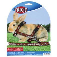 Oprsnica in povodec za zajce - rjava