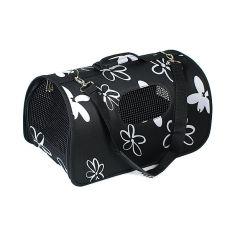 Transportni boks za pse in mačke - črn, 37 x 22 x 20 cm