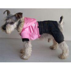 Jakna za psa z jeansom – sveleča, roza, XXL
