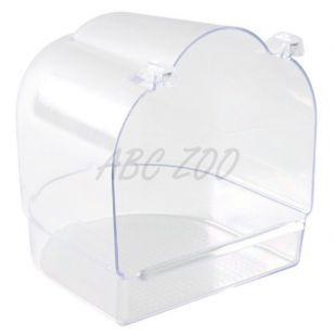Kopalnica za ptice - transparentna, polkrožna
