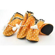 Pikasti pasji čevlji, oranžni – velikost 2