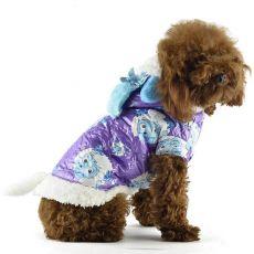 Jakna za psa – vijolična z risanimi liki, XS