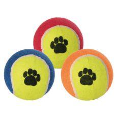 Teniška žoga za psa - pisana, 10 cm