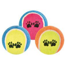 Teniška žoga za psa - pisana,  6 cm