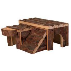 Hiška za glodalce – lesena, 14 x 7 x 14 cm