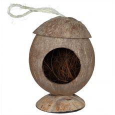 Hiška za glodalce iz kokosa – viseča, 12 cm