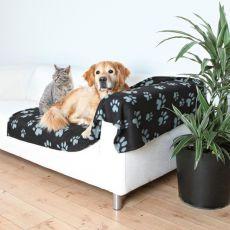 Odeja za pse in mačke, siva s tačkami, 150 x 100 cm