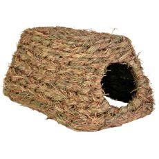 Travnato zavetje za glodalce – hiška, 28 x 18 x 13 cm
