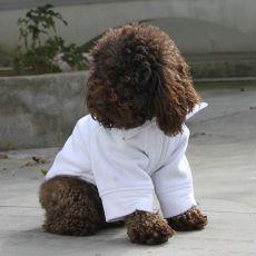 Pasji pulover z zadrgo – bel, L