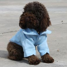 Pasji pulover z zadrgo – moder, M
