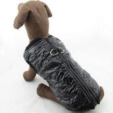 Telovnik za velike pse – sijoč, črn, L-XS