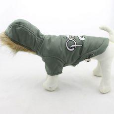 Pasja jakna s kapuco – olivno zelena, XXL
