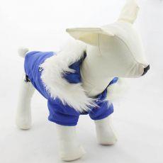 Pasja jakna s kapuco – modra, S