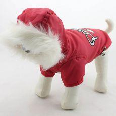 Pasja jakna s kapuco – rdeča, S