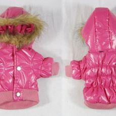Pasja bunda s kapuco – roza, XS