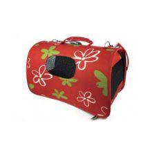 Transportni boks za pse in mačke – rdeč, 51 x 26 x 29 cm