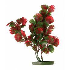 Umetna rastlina za akvarij, rdeča-zeleno listje 28 cm