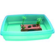 Akvarij za želve - 54x40x14 cm, 22 litrov