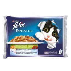 Hrana za mačke FELIX - ribe z zelenjavo v želeju, 400 g