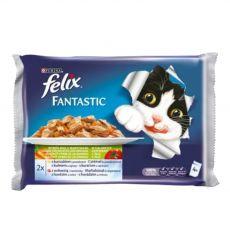 Hrana za mačke FELIX - meso z zelenjavo v želeju, 400 g
