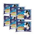 Hrana za mačke FELIX - meso z zelenjavo v želeju, 6 x 400 g