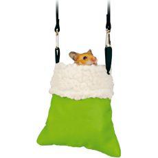 Viseča vreča za glodavce - za kletke, 14 x 12 cm