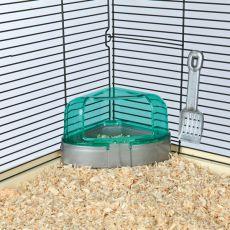 Stranišče z lopatko za majhne glodalce - 14 x 8 x 11 cm