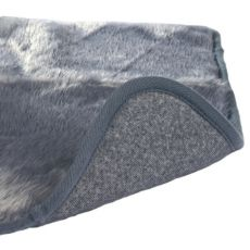 Termo podloga za pse in mačke v sivi barvi - 100 x 75 cm