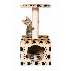 Mačji praskalnik Zamora z mehko votlino - 31x31x61 cm