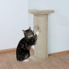 Mačji praskalnik, stolp, kotni z igračko - 75 cm