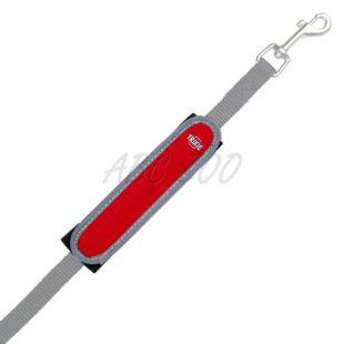 Svetleči trak za pasji povodec, rdeče-črn - 16 cm