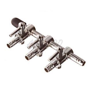 Nastavek za cev 4/6 mm – z zapornim čepom, trismerni