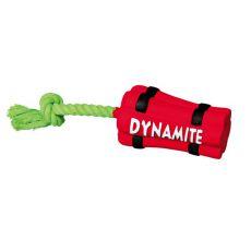 Igrača za pse iz lateksa - dinamit na vrvici, 22 cm