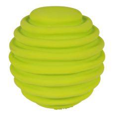 Igrača za pse iz lateksa - rebrasta žoga, 6 cm