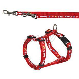 Oprsnica in povodec za pse, rdeče barve - 23-34cm/8mm