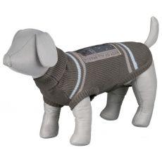 Pasji pulover z ovratnikom in motivom na hrbtu - S / 46 cm