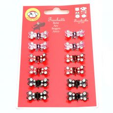 Sponke za pse - metuljčki s kamenčki, 12 kosov
