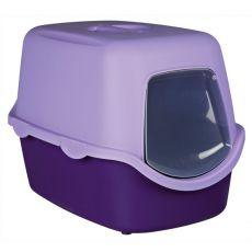 Mačje stranišče z vratci in ročajem - vijolično