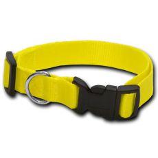 Neonsko rumena pasja ovratnica - 1.6 x 25-39 cm