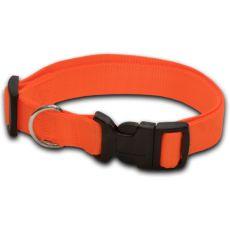 Neonsko oranžna pasja ovratnica - 1.6 x 25-39 cm