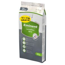 EMINENT Lamb and Rice – 15 kg + 3 kg GRATIS