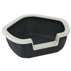 Kotno mačje stranišče DAMA - črno - 57,5 x 51,5 x 22 cm
